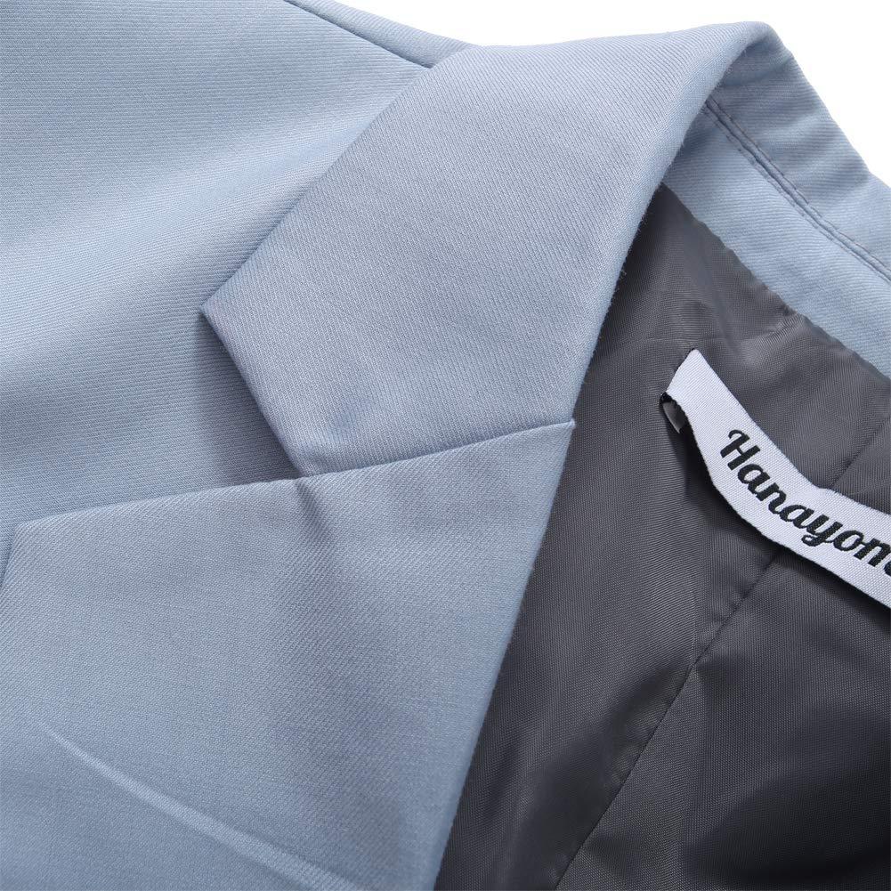 CMDC Womens 2 PC Business Casual Shawl Collar Formal Blazer Suit Pants Sets MI35 MI35-SP-A1