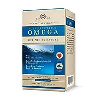 Solgar Wild Alaskan Full Spectrum Omega, 120 Softgels - Supports Heart, Brain, Bone...
