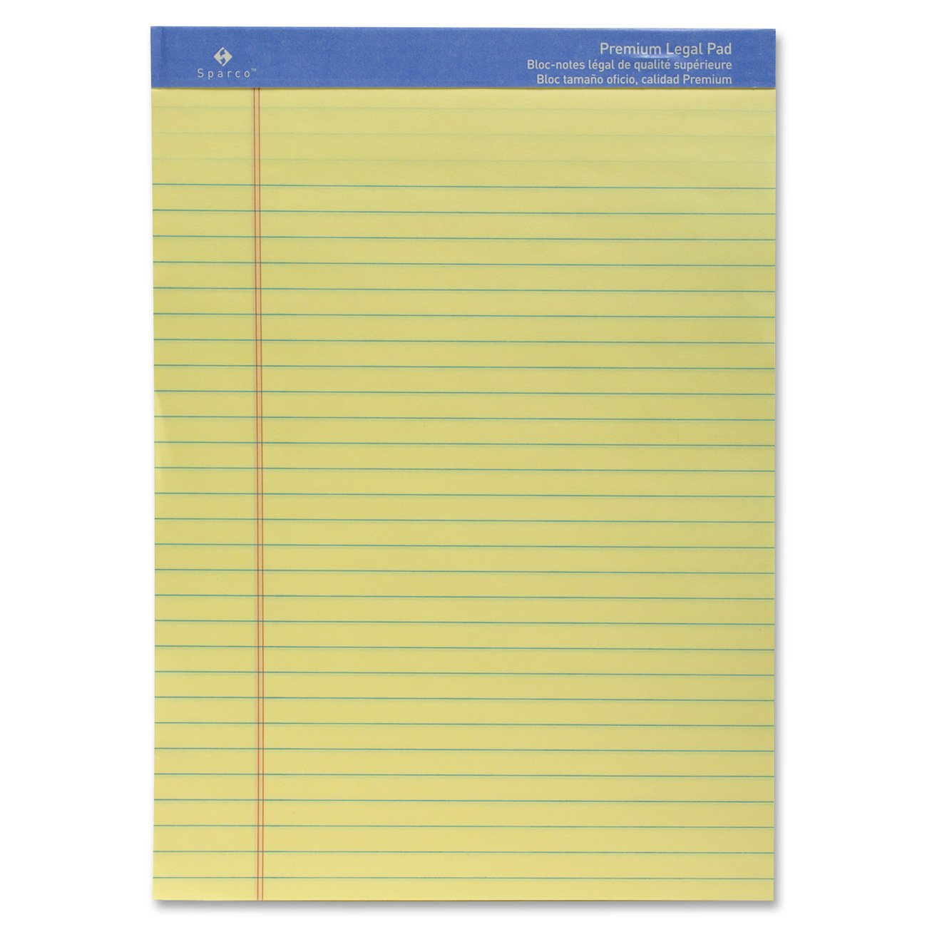 Sparco Perforated Wide Pad, 50 Sheets, 8 1/2 x 11 3/4 Inches, Canary(SPR1011)