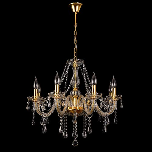 SuxiDi Modern Elegant K9 Crystal Glass Chandelier Pendant Ceiling Lighting European Style