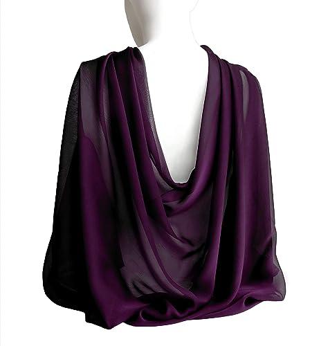 43c65de7814 Amazon.com  Plum Purple Eggplant Wide Long Scarf for Women Evening ...