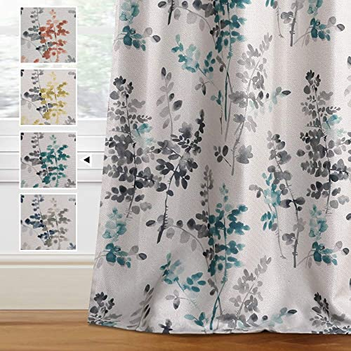 H.VERSAILTEX Linen Blackout Curtains 84 Inches Long Room Darkening Burlap Effect Linen Curtain Draperie
