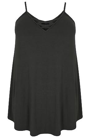 3489d8a8742b4c Women s Plus Size V-Neck Longline Cami Vest Top with Cross Front Detail  Size 30