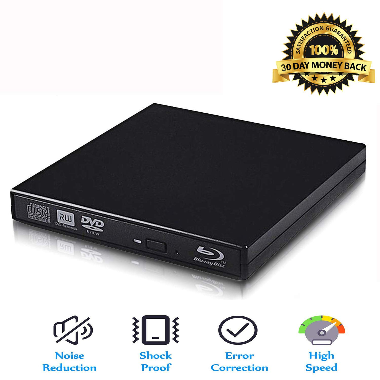 Blu-Ray Drive USB Portable External CD/DVD Drive Support PC laptops and desktops(Black)