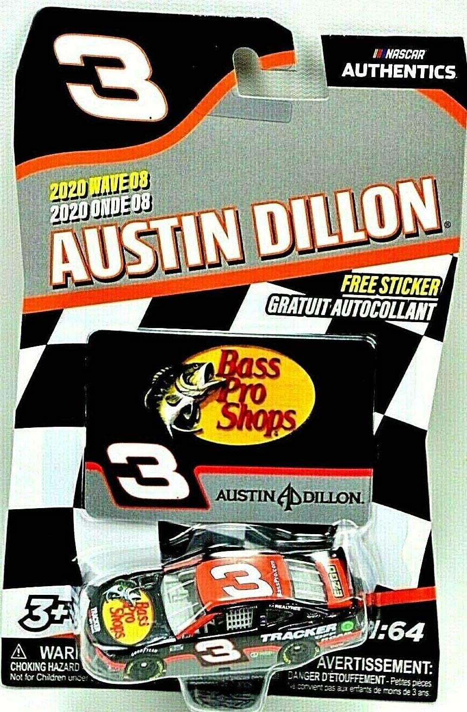 Austin Dillon #3 BASS PRO Shops NASCAR Authentics 2020 Wave 8 1//64 Die-Cast