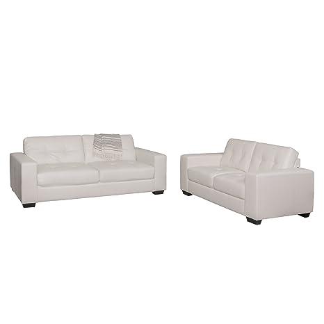 Amazon.com: CorLiving LZY-111-Z2 Club 2-Piece Leather Sofa ...