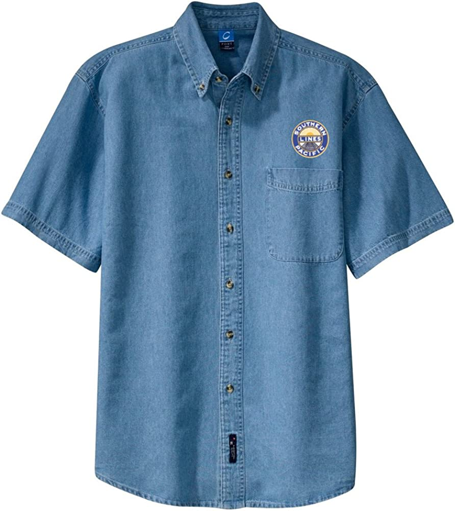 Southern Pacific Short Sleeve Shirt Forest Green Adult L den02SS