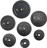 Gold Coast Cast Iron Weight Plate Set 1.25kg, 2.5kg, 5kg, 10kg, 15kg, 20kg, 25kg
