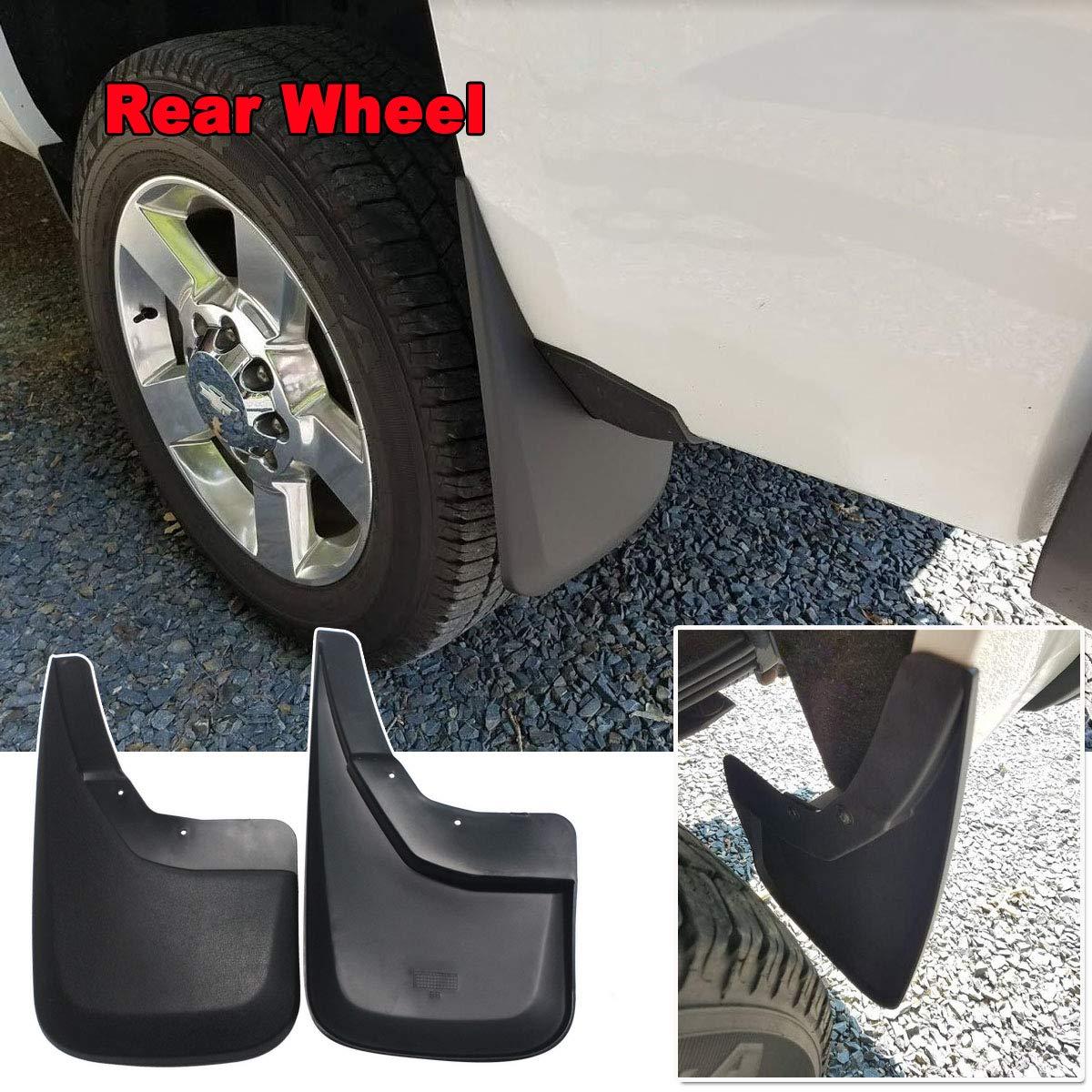 YOOSEN Mud Flaps for 14-18 Chevrolet Silverado 1500 and 15-19 Chevy Silverado 2500//3500 No Drill Splash Guards Kit 4-PC Set NOT Fit GMC Sierra