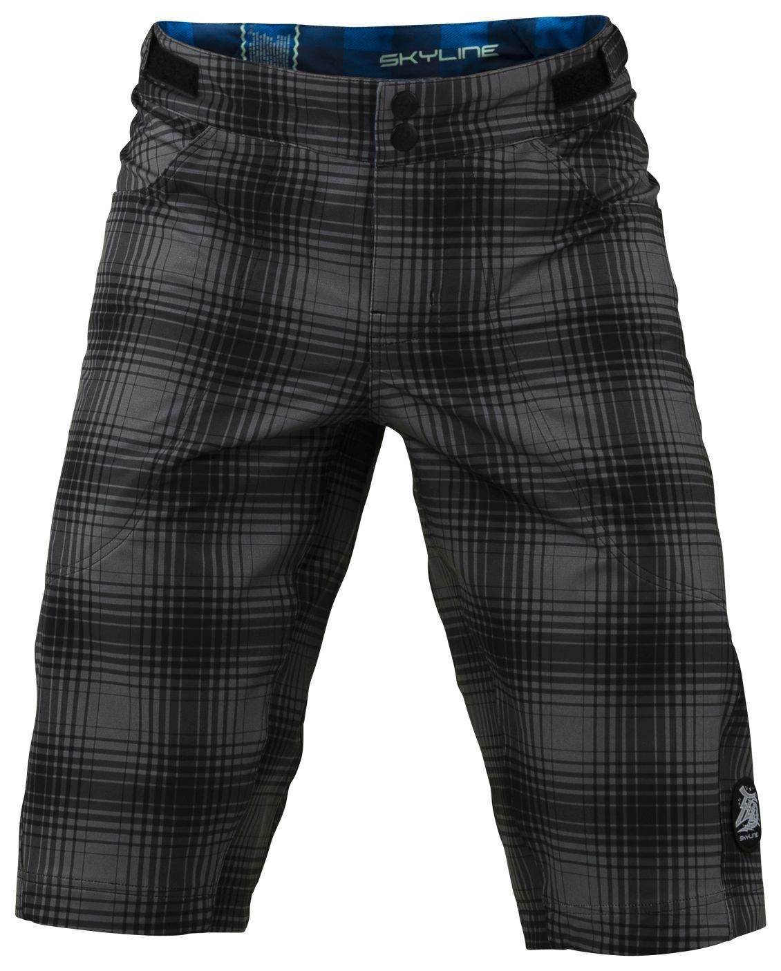 Troy Lee Designs Boys Skyline Plaid BMX Racing Short, Gray, 28