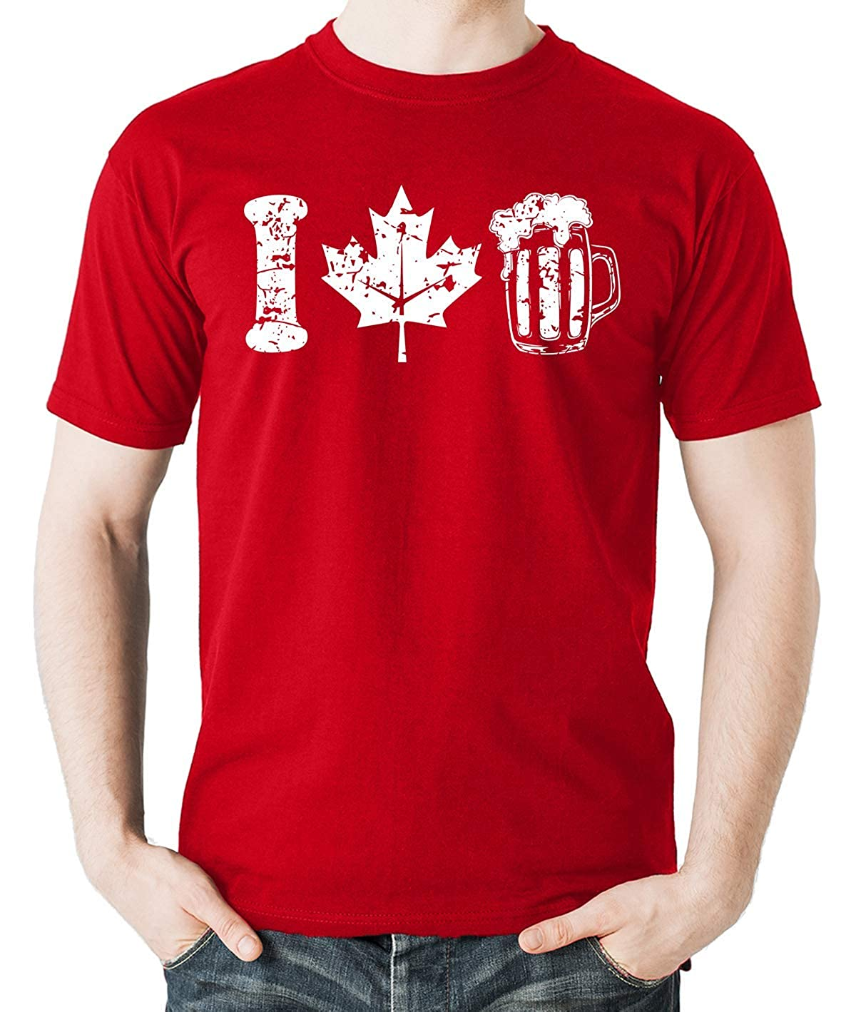 Witty Fashions I Love Beer, Funny Shirt, Canada Day, Beer Lovers Drinking Men's Shirt