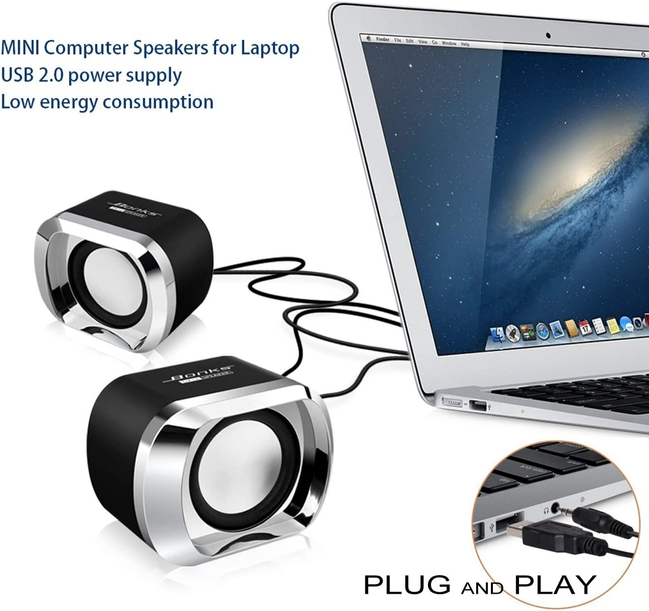 Portable Mini USB Audio Stereo Sound  Speaker for Laptop Computer PC Laptop lot