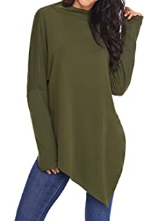 e93b1671eb15 Shawhuwa Womens Oversized Fleece Poncho High Neck Sweater Tops Knitwear