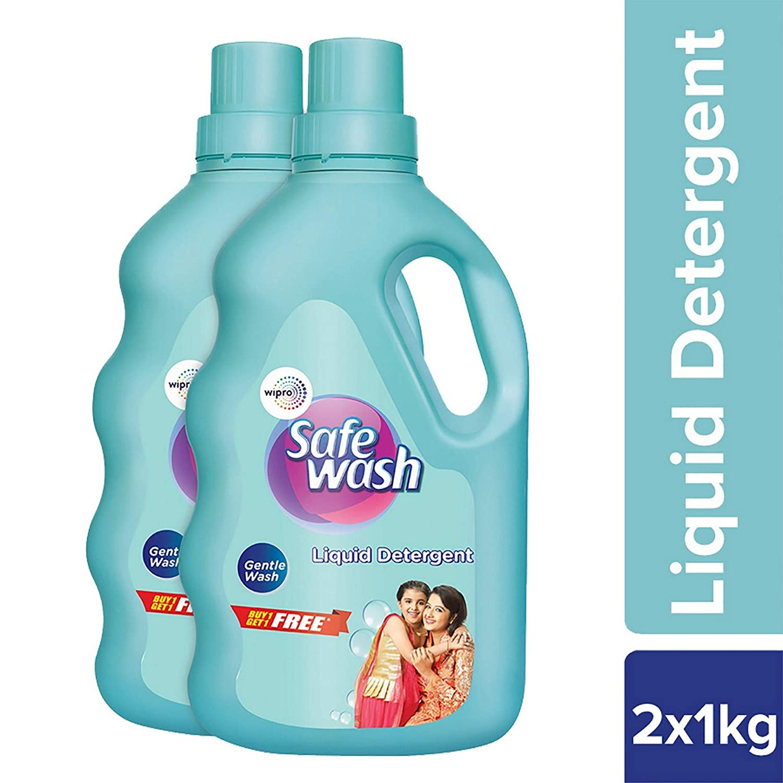 Safewash Liquid Detergent 1Kg + 1Kg