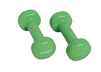 Schildkröt Fitness Set de 2 Mancuernas de Vinilo 1,0 Kg, 960005 ...