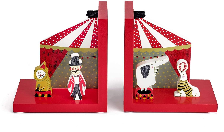 f/ür M/ädchen /& Jungen Kinder 3D-Zirkus-Buchst/ützen aus Holz Mousehouse Gifts