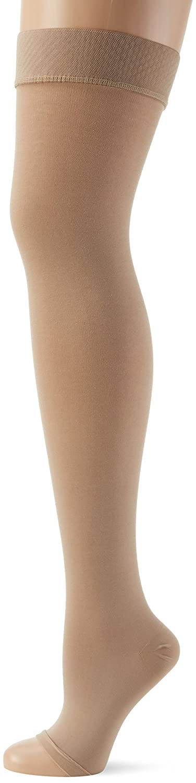 Womens Halterlose Strümpfe Aus Baumwolle, Klasse I, Offene Fußspitze Hold-up Stockings Relaxsan