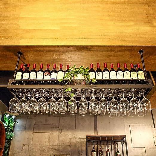 Techo Estante para botellas de vino Colgante de pared Hierro ...