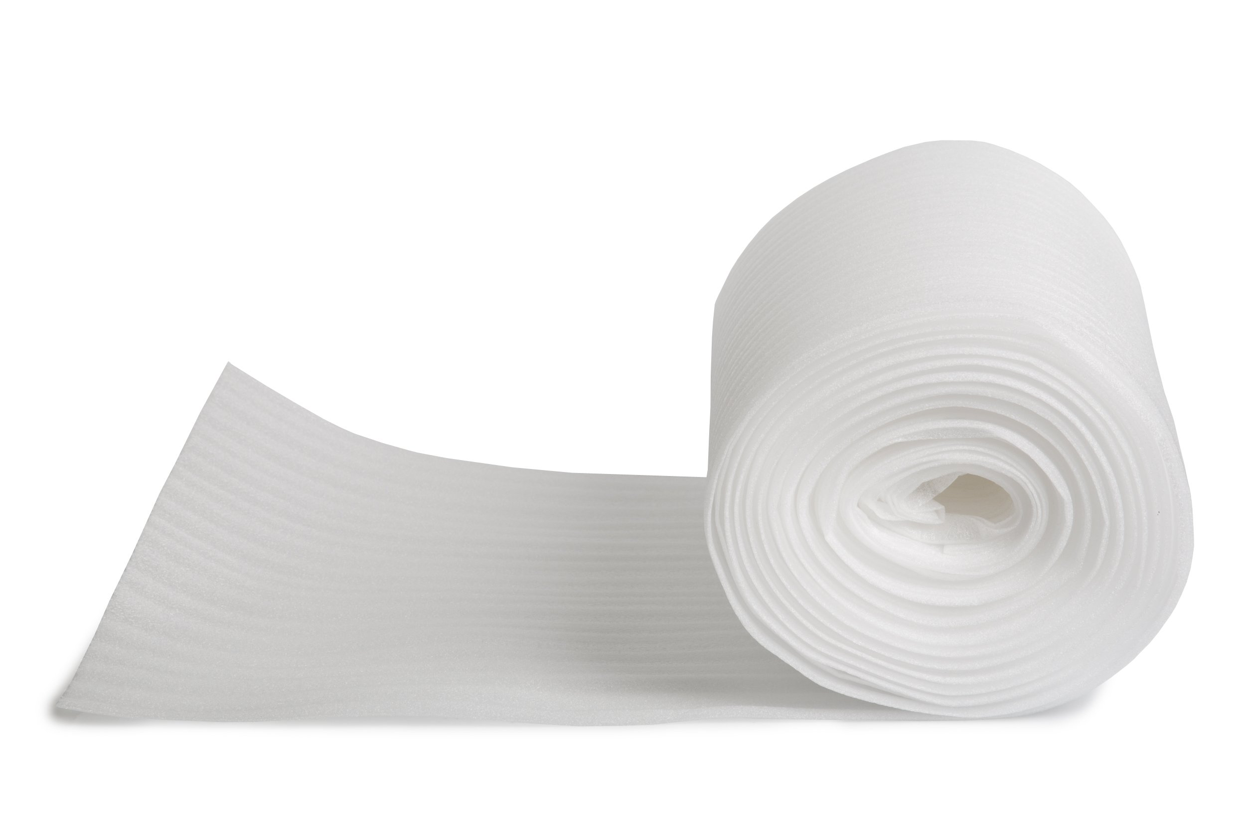 Packing Materials Foam Roll 12'' Wide x 70' Long X 1/16 Thick • Perforated Every 12'' • Great for all shipping, mailing, packing and moving needs