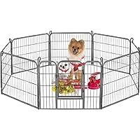 Dog Playpen Large Puppy Pen Folding Exercise Pen Indoor Outdoor Dog Fence with Door Heavy Duty 8 Panels Metal Pet Play…