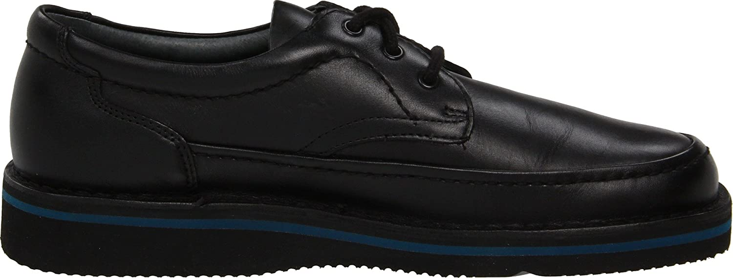 Hush Puppies Men's Mall Walker Oxford,Black Leather,10 M US