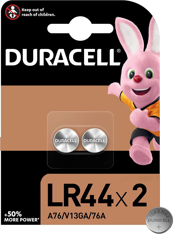 Duracell Pilas especiales alcalinas de botón LR44 de 1.5 V, paquete de 2 unidades 76A/A76/V13GA, diseñadas para su uso en juguetes, calculadoras y dispositivos de medición