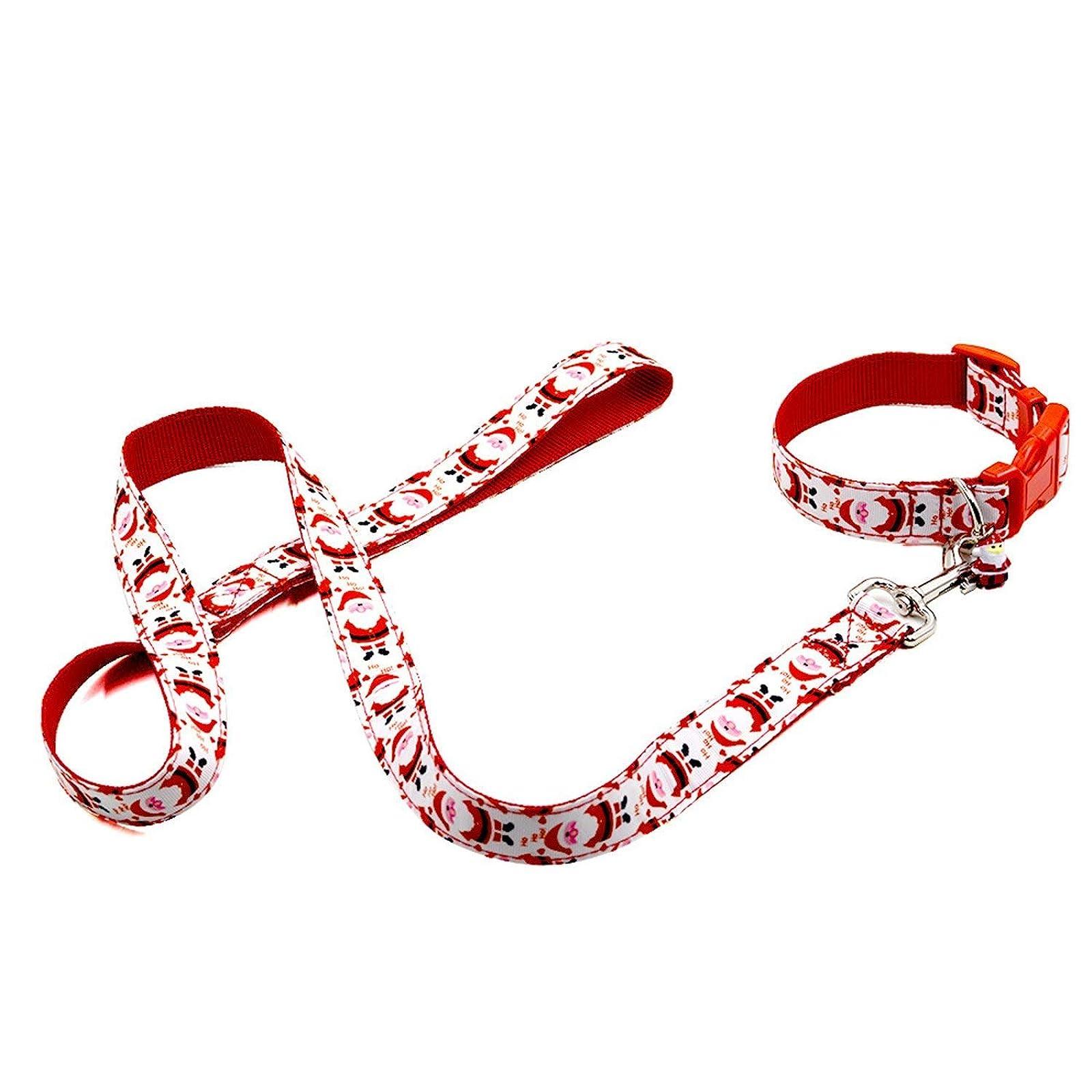 RYPET Christmas Dog Collar and Leash - Santa - 2