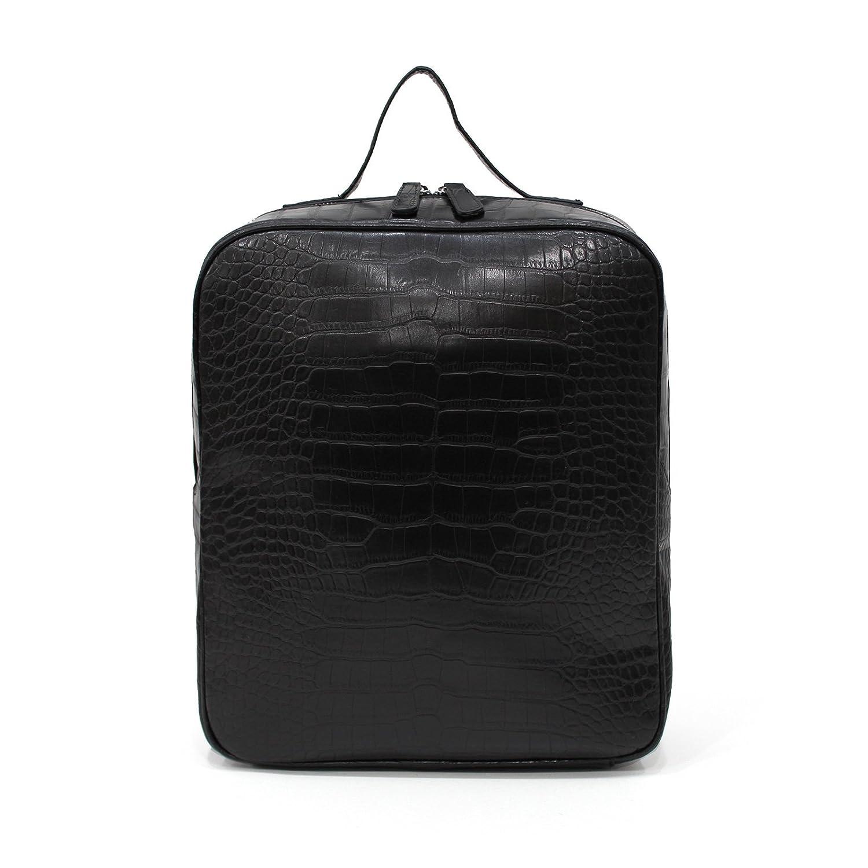[ナルシャ]Narusya Polar[3COLOR] itbag クロコ 型押し スクェア リュック 2way トートバッグ レディース 大きめ a4 ファスナー付き fba 鞄 B00OIPEV58  ブラック