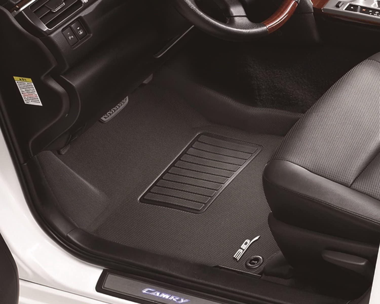 Kagu Rubber Black 3D MAXpider Complete Set Custom Fit All-Weather Floor Mat for Select Ford Fusion Models