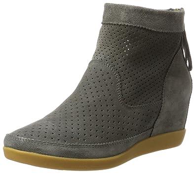 2a0ecbd3d53 Shoe the Bear Women's Emmy Suede Wedge Sneaker 6.5 Dark Grey