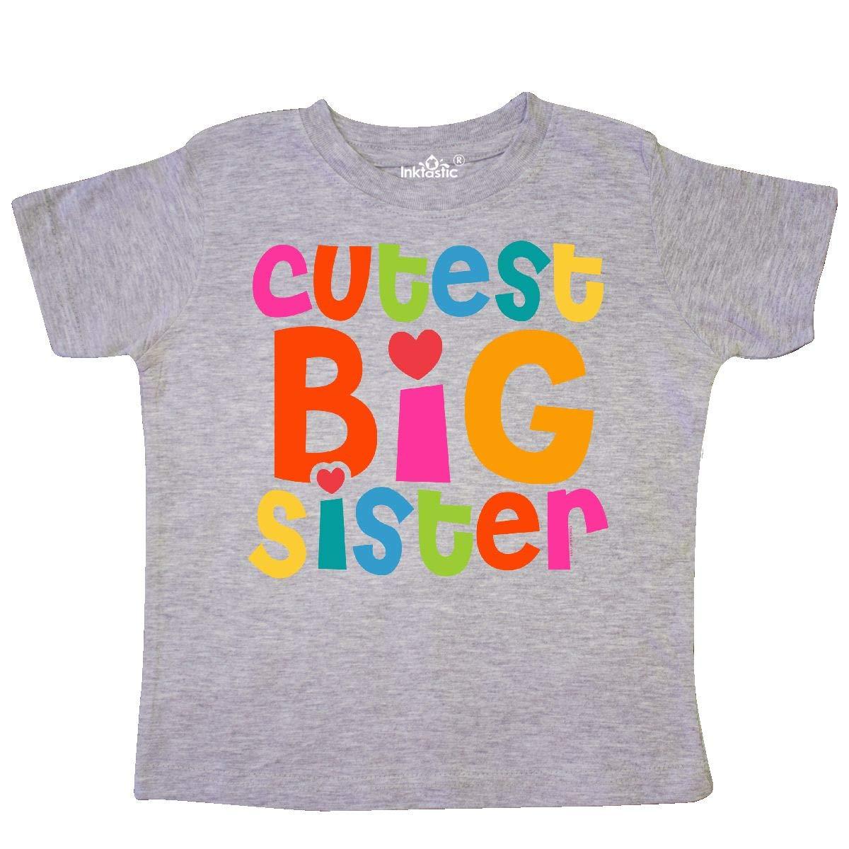 inktastic Cutest Big Sister Toddler T-Shirt