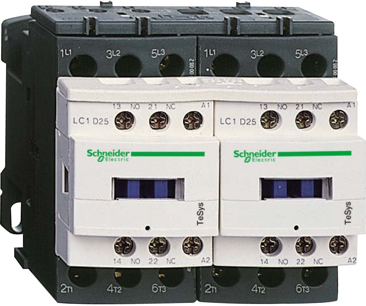 Schneider Electric lc2d12blv contactor 24V, Rev Cont 12A 1NO 1NC 2,4W 24V