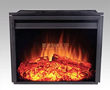 24u0026quot; New Electric Fireplace Insert (2301T) | Adjust Temp Remote | Heater  Flame  Fireplace Heater Insert