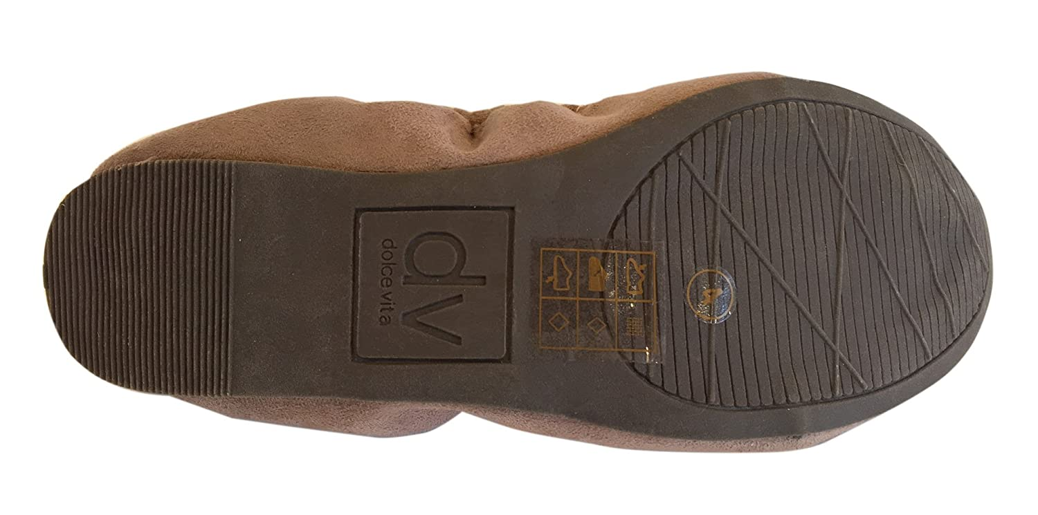 Dolce Vita Kids Taupe Rajani Faux Suede W Bow 4 Us
