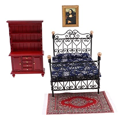Miraculous Buy D Dolity Vintage Bed Carpet Pictures Frame Display Beutiful Home Inspiration Ommitmahrainfo