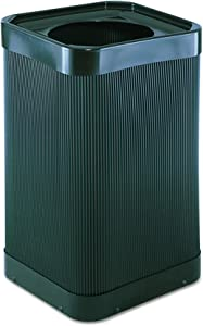 Safco Products At-Your-Disposal Trash Can 9790BL, Black, Impact and Water Resistant, 38 Gallon