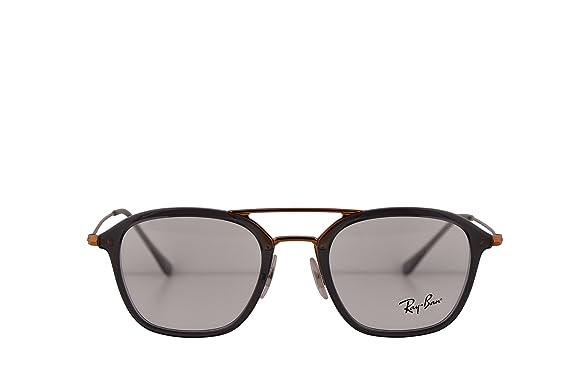 cf827cd743 Amazon.com  Ray-Ban RX7098 Eyeglasses 50-21-145 Grey w Demo Clear ...