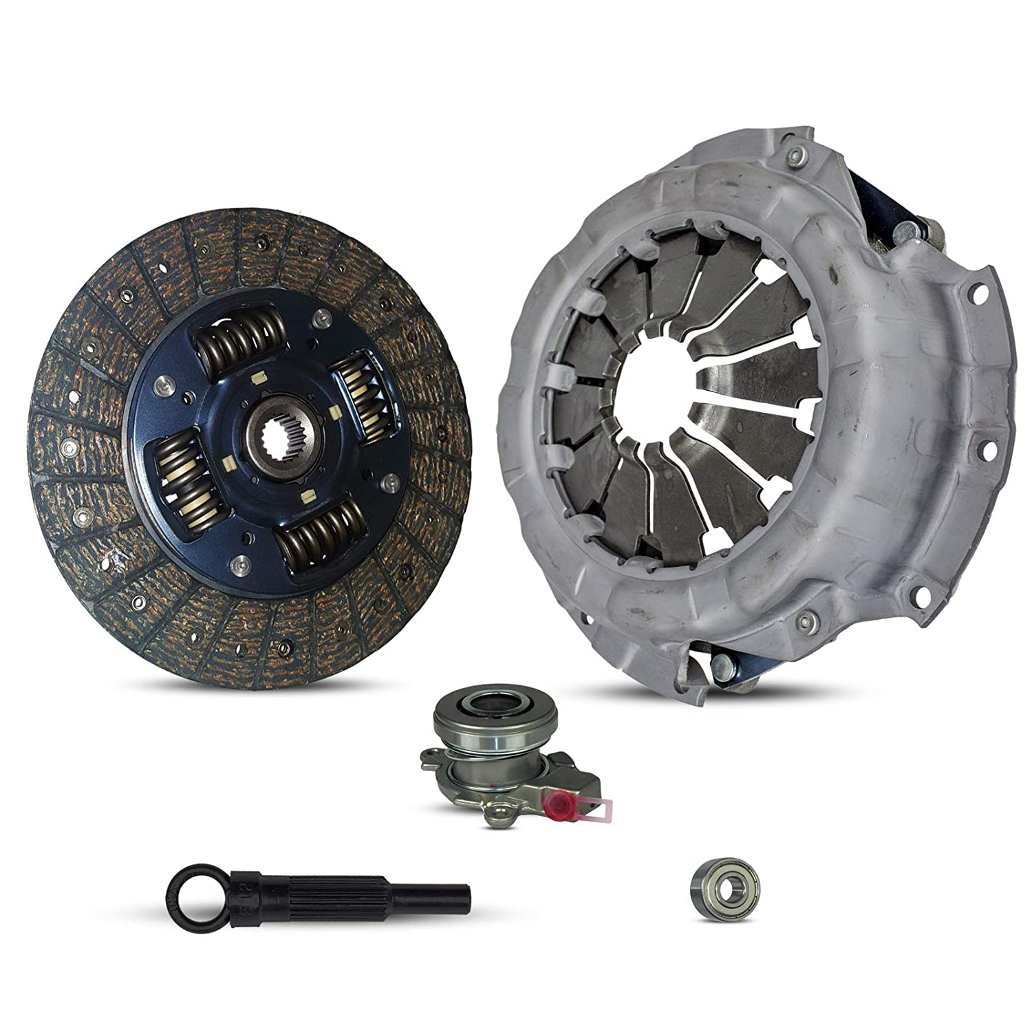 Clutch Kit With Slave Cylinder Works With Suzuki Sx4 Base Crossover LE  Sport JLX JX Sportback Sedan 2007-2010 2 0L l4 GAS DOHC Naturally Aspirated  (5