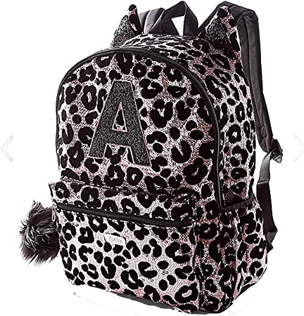 Amazon Com Justice Girls Cheetah Initial Sequin Backpack Gold