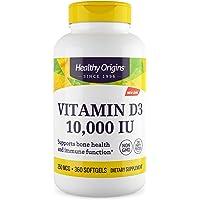 Healthy Origins Vitamin D3 10,000 IU (Non-GMO), 360 Softgels