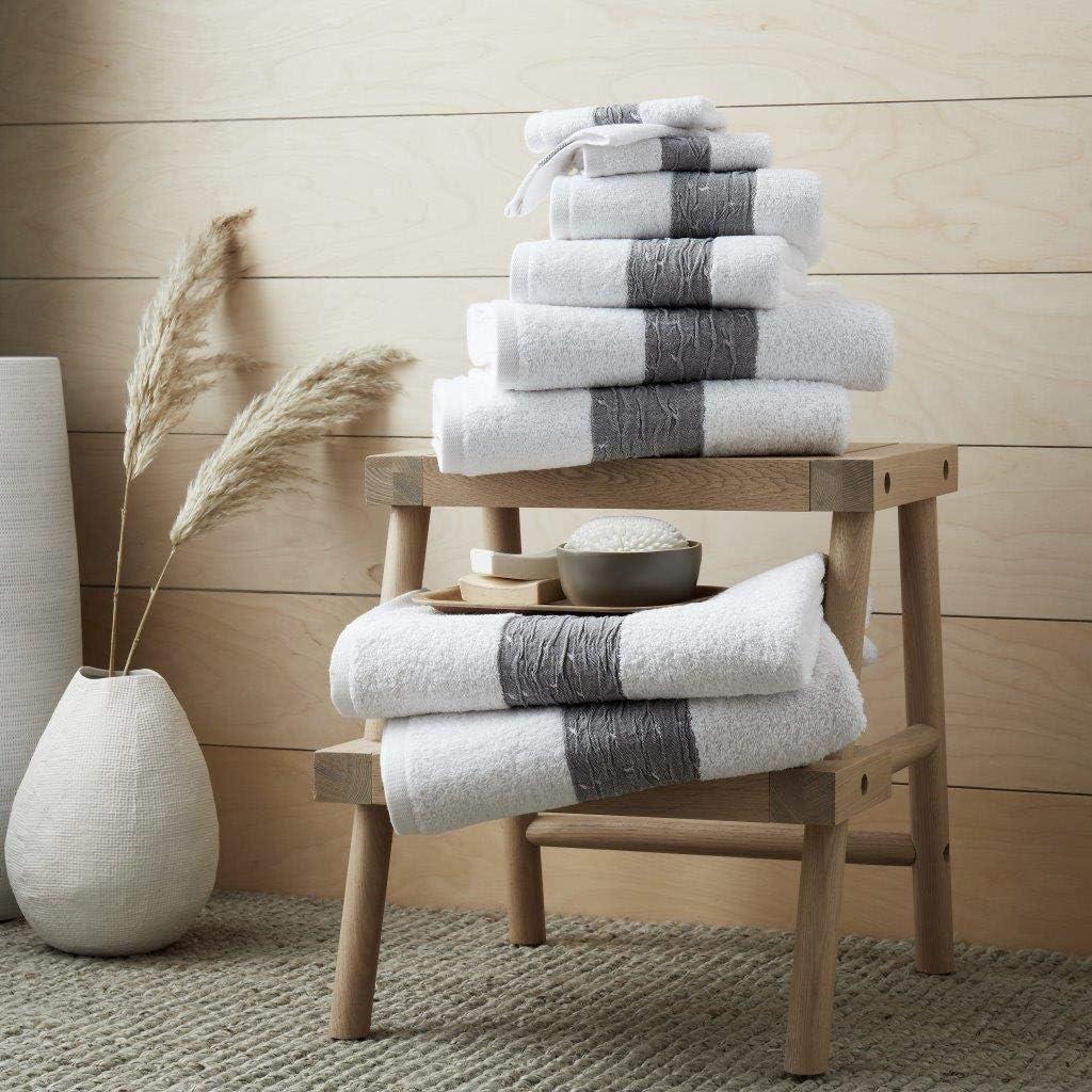 White, Bath Sheet - Pack 2 Artistic Fashionista* 100/% Egyptian Cotton 600gsm BAINSFORD Soft Thick Quick Dry Face Hand Bath Towel Bath Sheet Towels