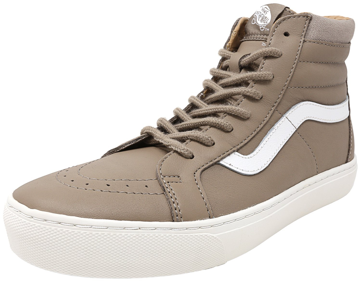 Vans Womens Sk8 Hi Cup Hight Top Lace up Fashion Sneakers B01N9RCDMW 8 B(M) US|Desert Taupe / Blanc De Blanc