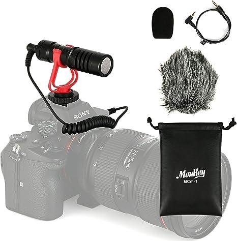 Moukey MCm-1 Micrófono Universal para Videocámaras/Cámara Canon ...