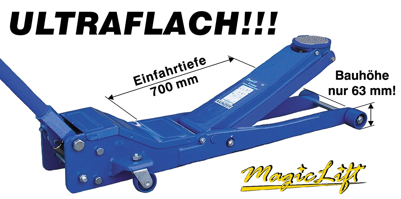 Ultraflach Kunzer WK 1020 F Hydraulischer Rangierwagenheber