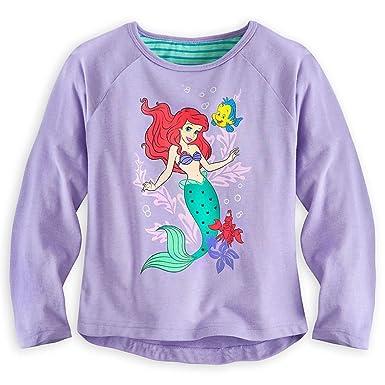 6e90b6776 Disney Store Princess The Little Mermaid Ariel Girl Long Sleeve T Shirt  Size 5/6