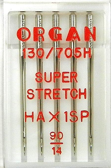 5 agujas Organ para máquinas de coser, HA x 1 SP/St. 90 ...