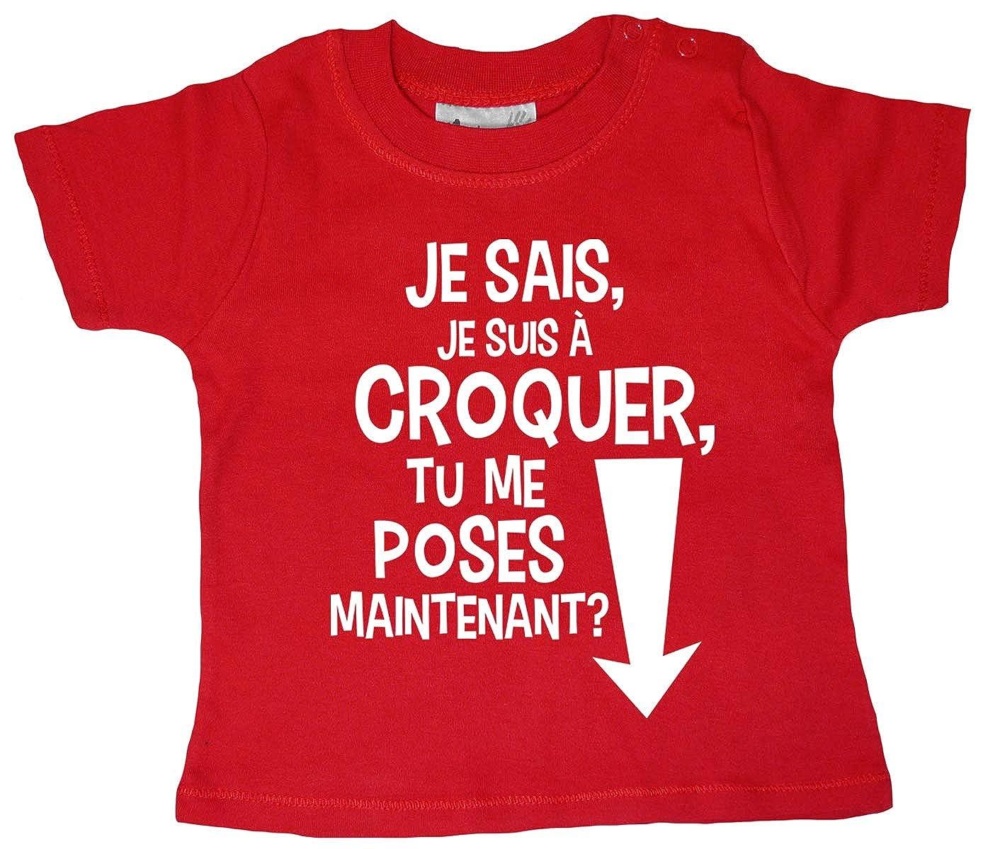 Dirty Fingers Je Sais Je suis /à Croquer tu me Poses Maintenant T-Shirt b/éb/é