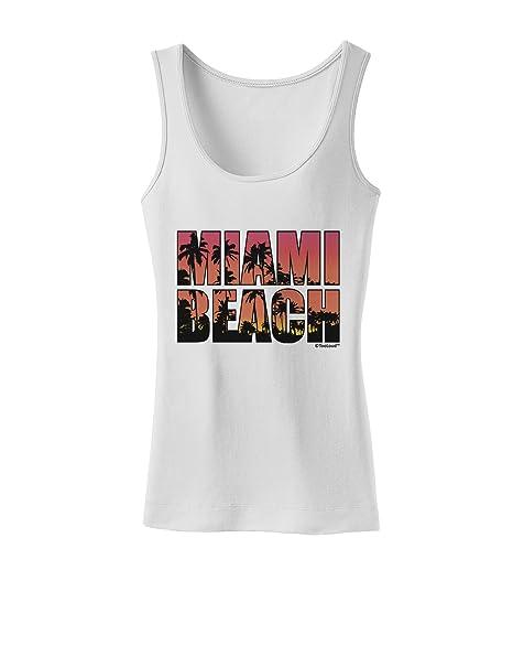Amazon.com: tooloud de Miami Beach – Sunset Palmeras Womens ...