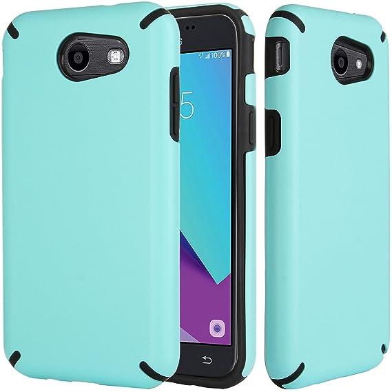 Samsung Galaxy J3 Emerge Case,Mint Green,J3 Prime Case,Amp Prime 2  Case,Express Prime 2 Case,Sol 2 Case,J3 Mission Case,J3 Eclipse  Case,DICHEER Hybrid