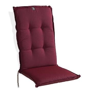 Sesselauflage Sesselpolster Stuhlpolster Stuhlauflage Hochlehner Rot 48x120 cm